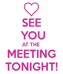 See you at the Meeting Tonight!